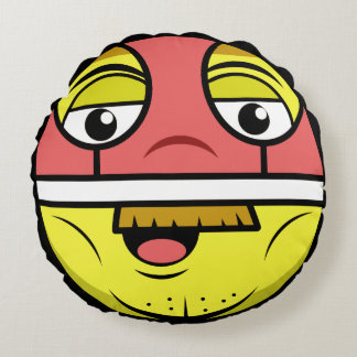Hero Face Round Pillow
