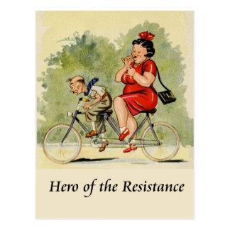 Hero of the resistance postcard