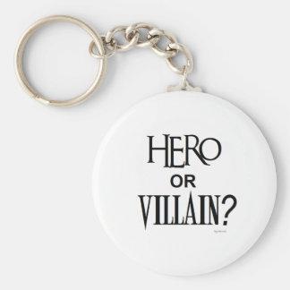 Hero or Villian Basic Round Button Keychain