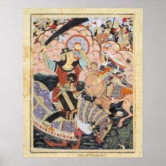 Hero Qasam al-Abbas Indian Painting Poster