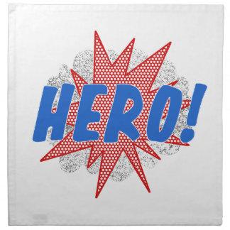 Hero star design napkin