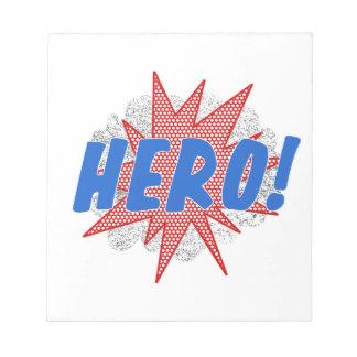 Hero star design notepad