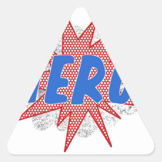 Hero star design triangle sticker