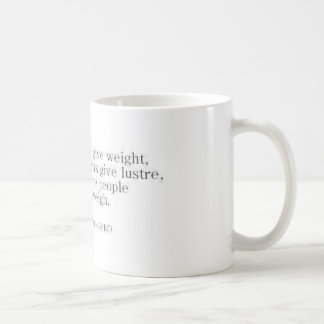 Herodotus on Knowledge vs. Accomplishments Classic White Coffee Mug