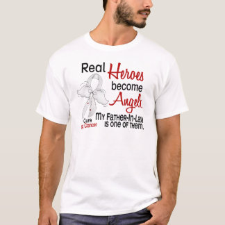 Heroes Become Angels Father-In-Law Lung Cancer T-Shirt