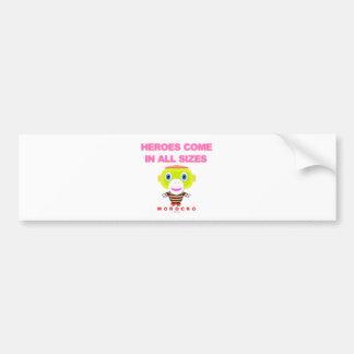 Heroes Come In All Sizes-Cute Monkey-Morocko Bumper Sticker