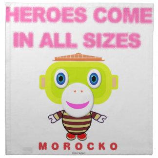 Heroes Come In All Sizes-Cute Monkey-Morocko Napkin