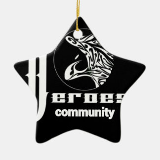 Heroes community ceramic ornament