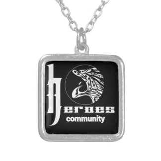 Heroes community silver plated necklace