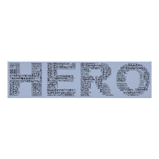 Heroes in the Fight Against Cancer (Black Text) Poster