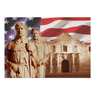 Heroes of The Alamo, San Antonio, Texas Poster