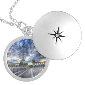 Heroes Square Budapest Hungary Locket Necklace