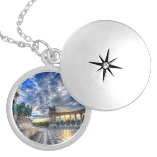 Heroes Square Budapest Hungary Silver Plated Necklace