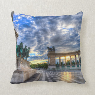 Heroes Square Budapest Hungary Throw Pillow