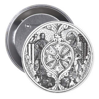 Heroes Stained Glass Shield Button