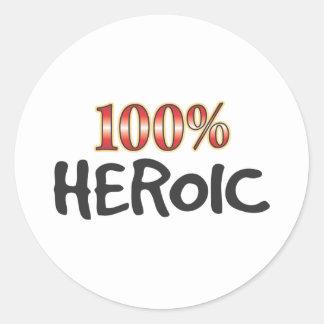 Heroic 100 Percent Sticker