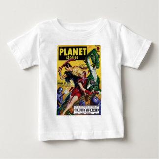 Heroic Blonde Rides a Dinosaur Baby T-Shirt