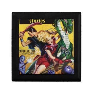 Heroic Blonde Rides a Dinosaur Gift Box