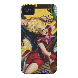 Heroic Blonde Rides a Dinosaur iPhone 4 Covers