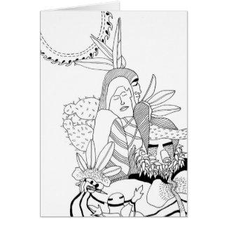 Heroic Couple with Kachinas Card
