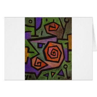 Heroic Roses by Paul Klee Card
