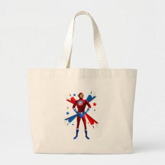 Heroic Stance Jumbo Tote Bag