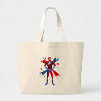 Heroic Stance Large Tote Bag