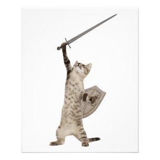 Heroic Warrior Knight Cat Full Colour Flyer