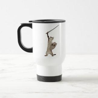 Heroic Warrior Knight Cat Mug