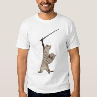 Heroic Warrior Knight Cat Shirts