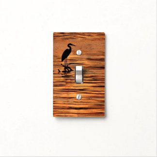 Heron at Sunset Light Switch Cover