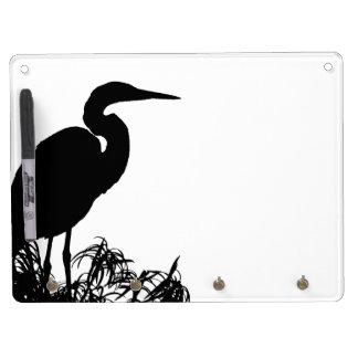 Heron Birds Wildlife Animals Dry Erase White Board