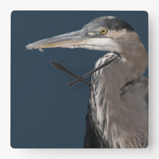 Heron Birds Wildlife Animals Square Wall Clock