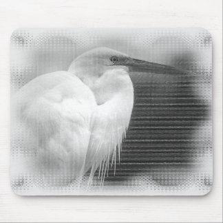 Héron blanc tapis de souris