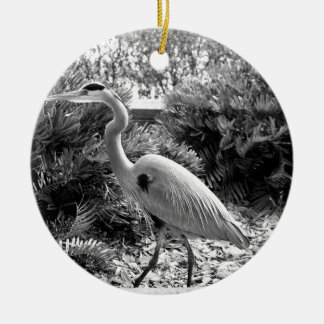 heron ceramic ornament