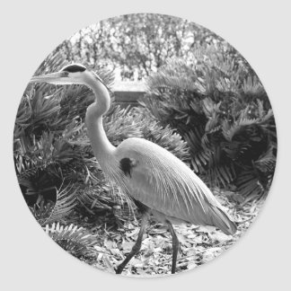 heron classic round sticker