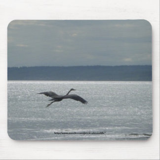 Heron in Flight Mouse Pad