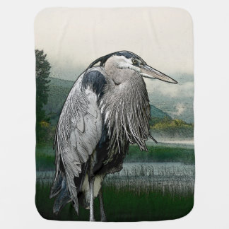 Heron Lake Baby Blanket