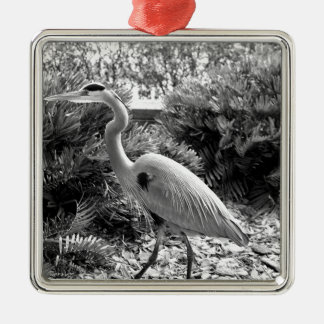 heron metal ornament