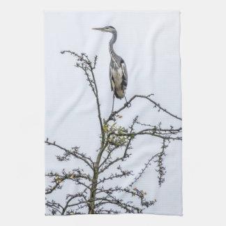 Heron on a tree kitchen towel