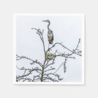 Heron on a tree napkin