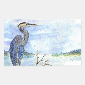 Heron Sentry - Watercolor Pencil Sticker