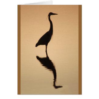 Heron Silhouette Card