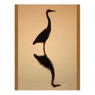 Heron Silhouette Postcard