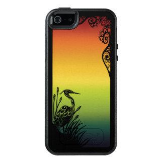 Heron Silhouette Rainbow OtterBox Symmetry Case