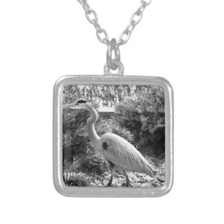 heron silver plated necklace