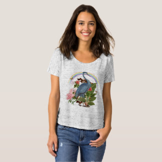 Heron Spirit Animal Slouchy T-Shirt