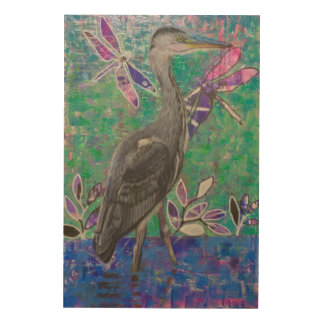 Heron Stand in the Dee Wood Print