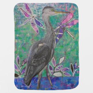 Heron Stands in the Dee Baby Blanket