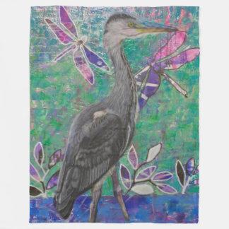 Heron Stands in the Dee Blanket